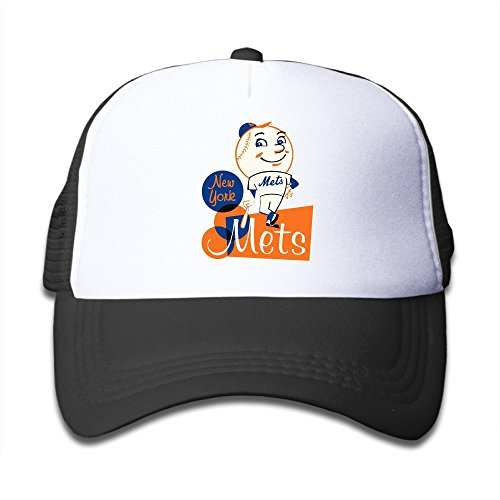 TIKE Infant Toddler Cap Hats Mascot Mr. & Mrs. Met Fans Meshback Black (Mascot Uniforms)