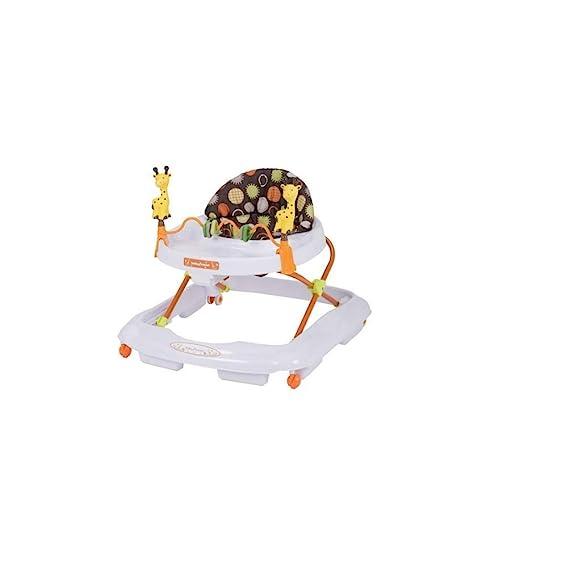 Baby Trend Walker Safari Kingdom Removable Toy Bar Height Adjustable High Back