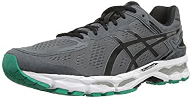 ASICS Men's Gel-Kayano 22 Running Shoe, Carbon/Black/Silver, 6 M US