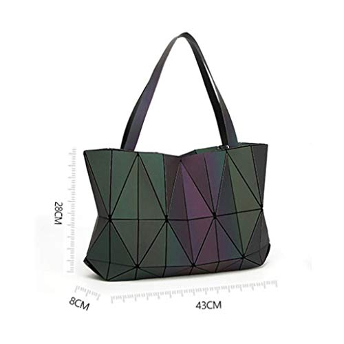 Mujer Bandolera Simple Bolso Geométrica De Luminous Para Moda Y8dq8