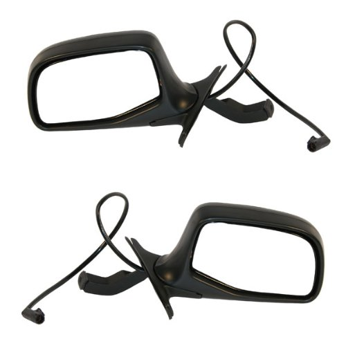 Koolzap For 92-97 F-Series Pickup Truck Power Black Paddle Mirror Left & Right Side SET - Ford Door Bronco Mirror 96