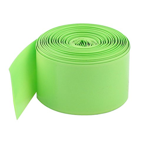 Uxcell a15012900ux0468 PVC Heat Shrink Tubing Wrap for 18650 Battery, 10 m, 29.5 mm, Light Green