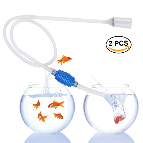 HoLeis 2 PCS Aquarium Cleaner Fish Tank Filter Gravel Sand Siphon Pump for Water Changing Sand Cleaner by HoLeis