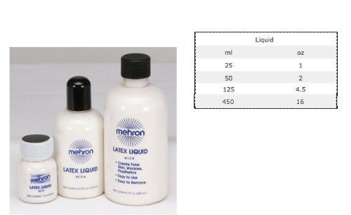 mehron Liquid Latex For Special Effects - All Sizes Available (1Oz) (Latex Special Effects)
