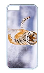 Siberian tiger snow PC White Hard Case for Apple iPhone 6(4.7 inch)