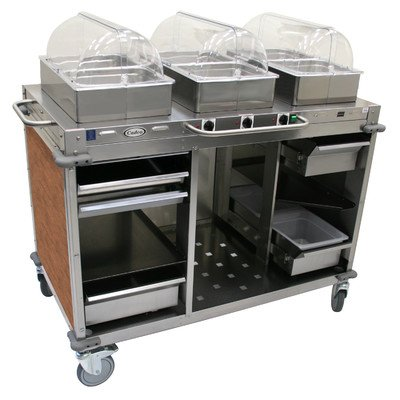 """Mobile Hot Buffet Cart Color: Flame Soapstone Red, Size: 51"""" H x 55.5"""" W x 28.75"""" D"""
