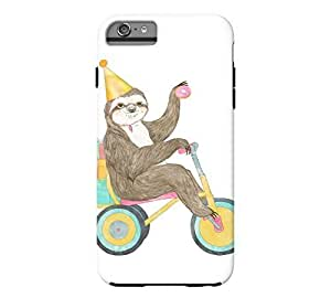 Birthday Sloth iPhone 6 Plus White Tough Phone Case - Design By Humans