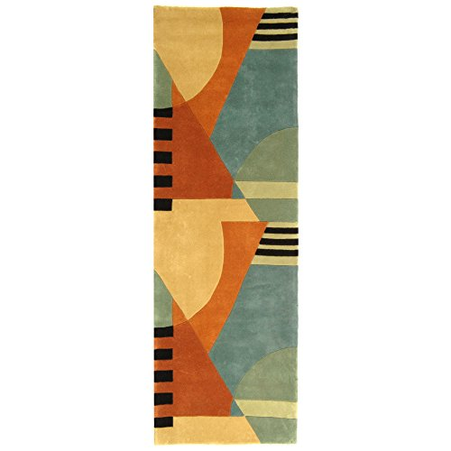 10' Rodeo Drive Collection (Safavieh Rodeo Drive Collection RD863A Handmade Modern Abstract Gold Wool Runner (2'6