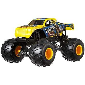 Hot Wheels Skeleton Crew Monster Truck, 1:24 Scale