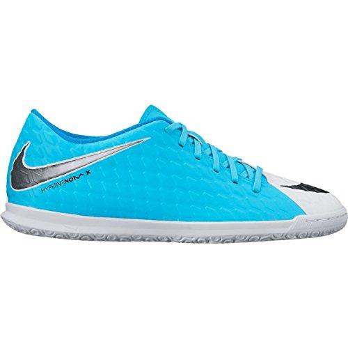 Nike Hypervenomx Phade 3 Ic, Botas de Fútbol para Hombre Blanco