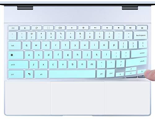 CaseBuy Google Pixelbook Keyboard Cover Protector Google Pixelbook Accessories, Compatible with Google Pixelbook 12.3 2-in-1 Chromebook, Gradual Mint Green