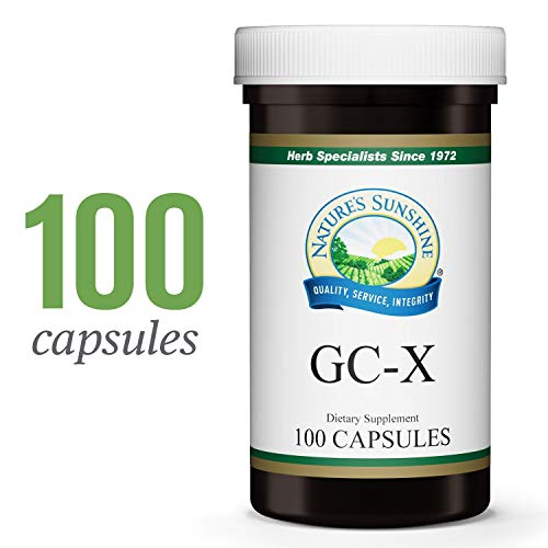 Garlic Parsley 100 Capsules - Nature's Sunshine GC-X, 100 Capsules   Combines Garlic, Capsicum, Parsley, and Other Herbs to Aid The Intestinal and Circulatory Systems