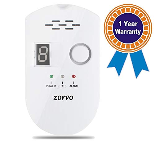 Gas Detector Sensor - zorvo Plug-in Digital Gas Detector High Sensitivity LPG/Coal/Natural Gas Leak Detection Alarm Monitor Sensor for Home/Kitchen Gas Alarm Detector Gas Leak Detector