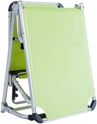 187x59x30 cm Bain de soleil BIKINI en acier et textilene Vert