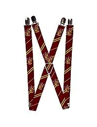 """Tirantes con hebilla, Gryffindor Crest/Stripe 2 Borgoña/Dorado, Multicolor, 3.5"""" x 2.5"""""""