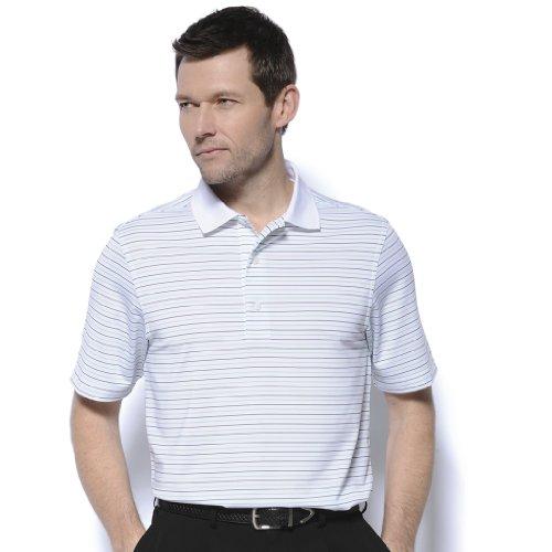 Monterey Club Mens Dry Swing Multi Color Thin Stripe Polo Shirt #1656
