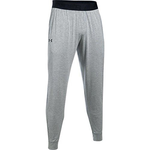 Under Armour Men's Athlete Ultra Comfort Recovery Pants Sleepwear,True Gray Heather /Carbon Heather, Large