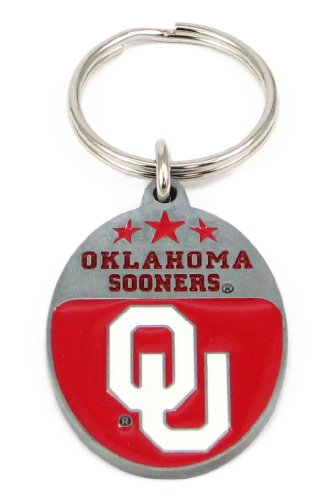 College Team Logo Key Ring - Oklahoma Sooners