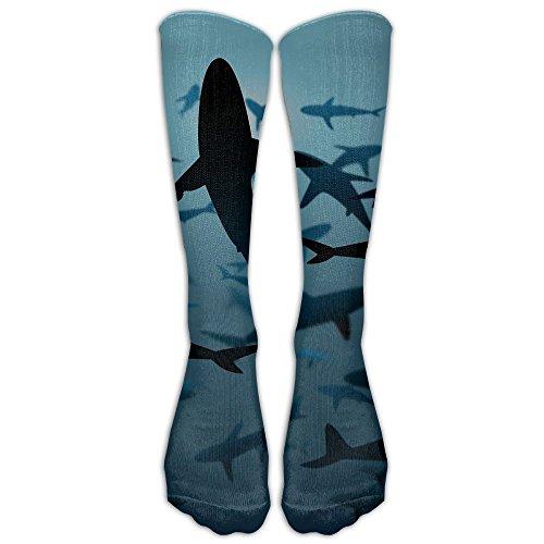 Undersea Shark Group Unisex Sport Long Socks Stockings Crazy Pattern Cotton Socks For Men Women (Stockimgs Christmas)
