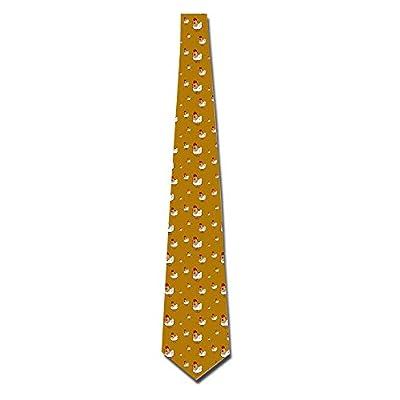 IYaYa Men's Personalized Cartoon Chicken Skinny Neckties