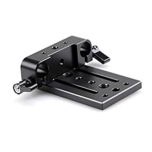 SmallRig Camera Mounting Plate Tripod Mounting Plate with 15mm Rod Clamp Railblock for Rod Support (SmallRig 853)