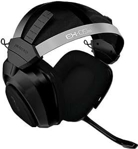 Gioteck EX-05 - Auriculares de diadema cerrados (con micrófono, reducción de ruido, USB), negro