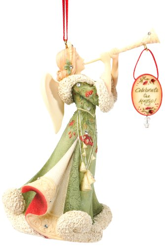 Christmas Trumpet Images.Enesco Heart Of Christmas Angel With Trumpet Ornament 4 65 Inch