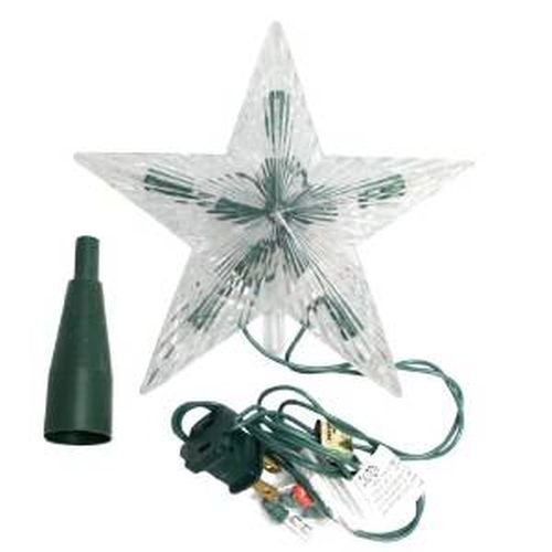 Kurt Adler Star Treetop 10-Light Set, 7-Inch, (Topper Tree Top)