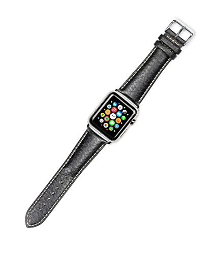 debeer-replacement-watch-strap-sport-leather-black-fits-42mm-apple-watch-silver-adapters