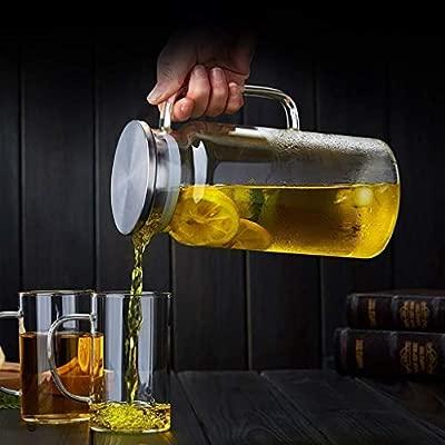 Jarra de vidrio con tapa, seguro de calor de la tetera de hielo ...