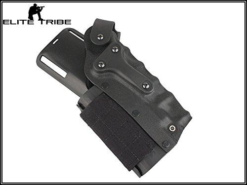 Military Paintball Gun Pistol Holster Safriland Style 3280 Pistol Model Waist Leg Holster Black by Paintball Equipment (Image #3)