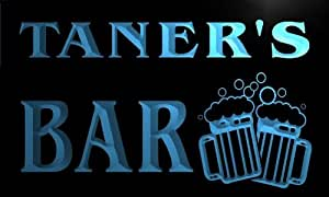 w092547-b TANER Name Home Bar Pub Beer Mugs Cheers Neon Light Sign