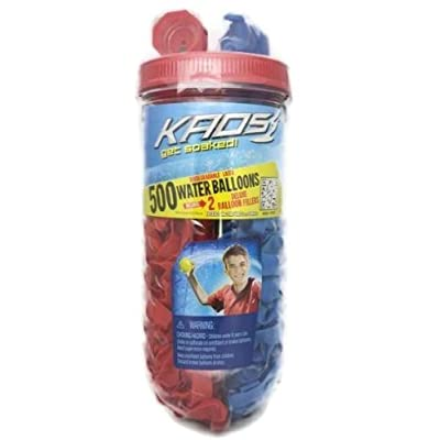 500ct Water Splashers Water Bombs Team Tubes Balloons - RED and BLUE - Biodegradable: Toys & Games