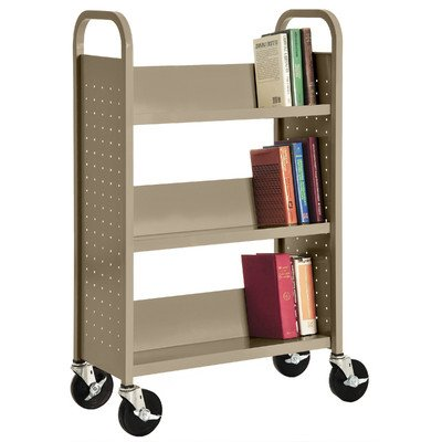 Sandusky Lee SL327-04 Single Sided Sloped Shelf Welded Bookcase, 14