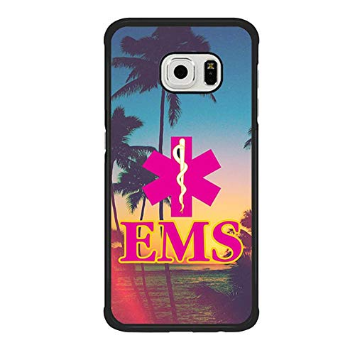 Skinsends Hippie Emergency Medical Services Phone Cover Compatible with Galaxy S6 Edge, Nurse Back Cover Compatible with Samsung Galaxy S6 Edge -