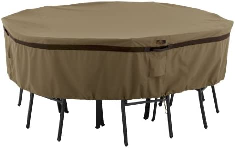 Classic Accessories Hickory Round Patio Table Chair Set Cover, Small