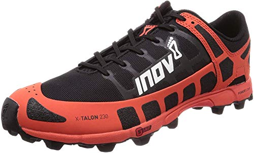 Inov-8 Mens X-Talon 230 - Lightweight OCR Trail Running Shoes - for Spartan, Obstacle Races and Mud Run - Black/Red 10 M US