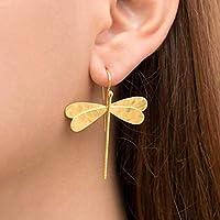 Pendientes de la libélula de plata, joyería de la libélula, regalo para las mujeres, Pendientes hipoalergénicos…