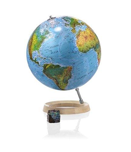 Full Circle 2: Doppelbild-Leuchtglobus 30 cm, ringförmiger Ahornholzfuß und Schrägstütze, Kabel integriert (Design Globus) Landkarte – Globe, 1. Juli 2014 Atmosphere Räthgloben 1917 3934922600 Geographische Qualifier