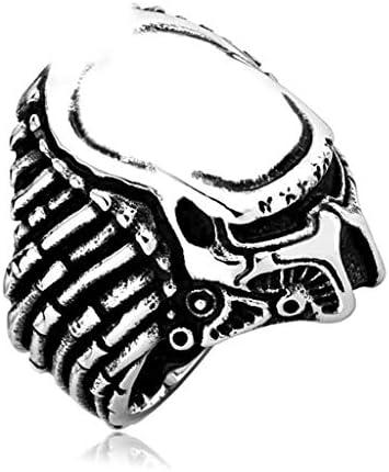 リング ステンレス鋼,性別 横暴 マスク 人 ハロウィン パーティー リング-A-8