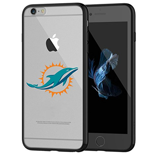 Dolphins iPhone 6s Tough Case, Shock Absorption TPU + Translucent Frosted Anti-Scratch Hard Backplate Back Cover for iPhone 6 / 6s - Black