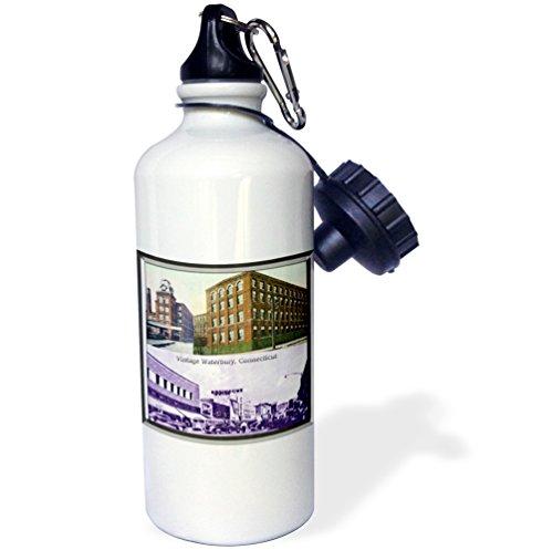 3dRose WB _ _ _ _ _ _ _ _ _ _ 57567_ _ _ _ _ _ _ _ _ _ 2,5cm Waterbury, Connecticut (Vintage) 'El Deporte botella de...