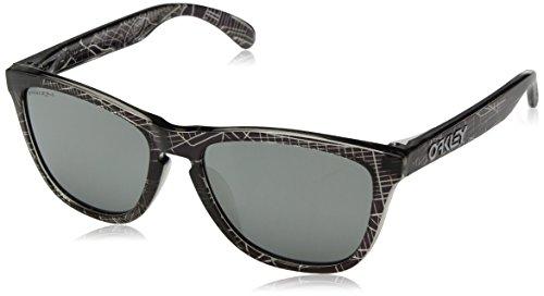 Oakley Men's Frogskins (a) Non-Polarized Iridium Rectangular Sunglasses, UC NYC Black, 54.5 ()