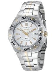 Seiko Men's SGEE56 Sporty Dress Two-Tone Watch
