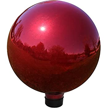 Amazon Com Vcs Red10 Mirror Ball 10 Inch Red Stainless