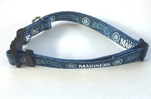 Seattle Mariners Pet Dog Adjustable Collar All Sizes (XS)
