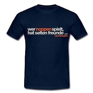 Tischtennis - Noppen Männer T-Shirt von Spreadshirt®, L, Navy