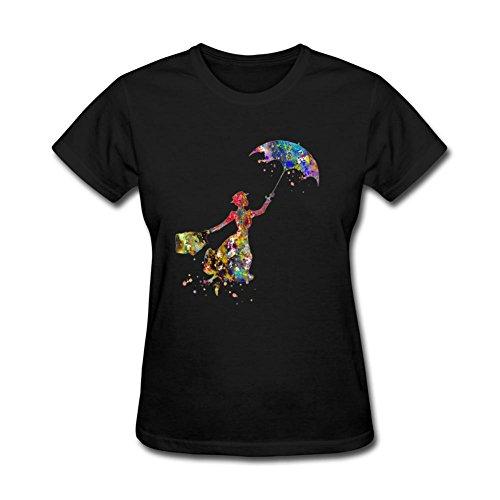 JuDian Mary Poppins Art Design T shirt For Women