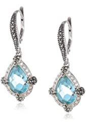 "Judith Jack ""Charisma"" Sterling Silver, Marcasite Drop Earrings"