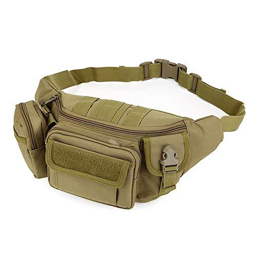 AYAMAYA Tactical Waist Bag, [9 Pockets] Funny Pack for Men Water Resistant Army Militray Messenger Bag Assault Gear Sling Shoulder Pack Hip BumBag or for EDC Hiking Cycling Camping Hunting Fishing